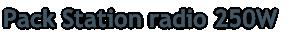 Pack Station radio 250W
