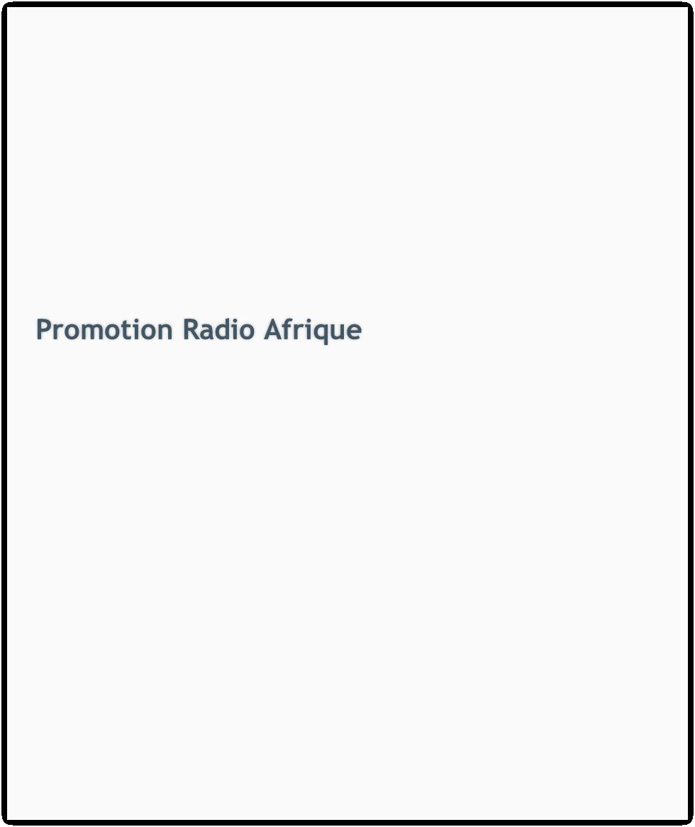 Promotion Radio Afrique