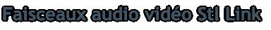 Faisceaux audio vidéo Stl Link